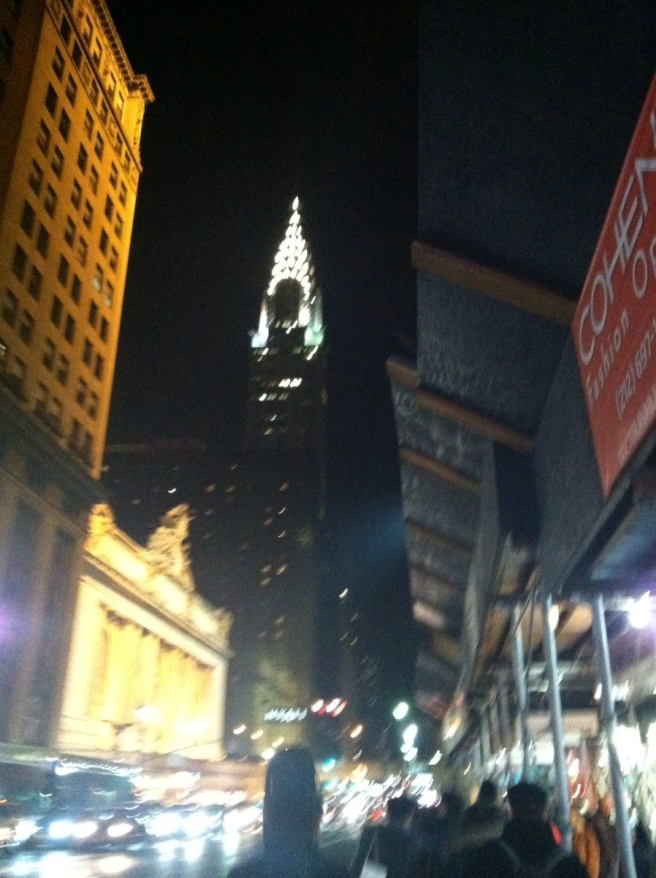 "Every time I think of the Chrysler Building, that line from Annie: ""If this place don't SHINE like the top of the Chrysler Building, your backsides will..."" Every. time."