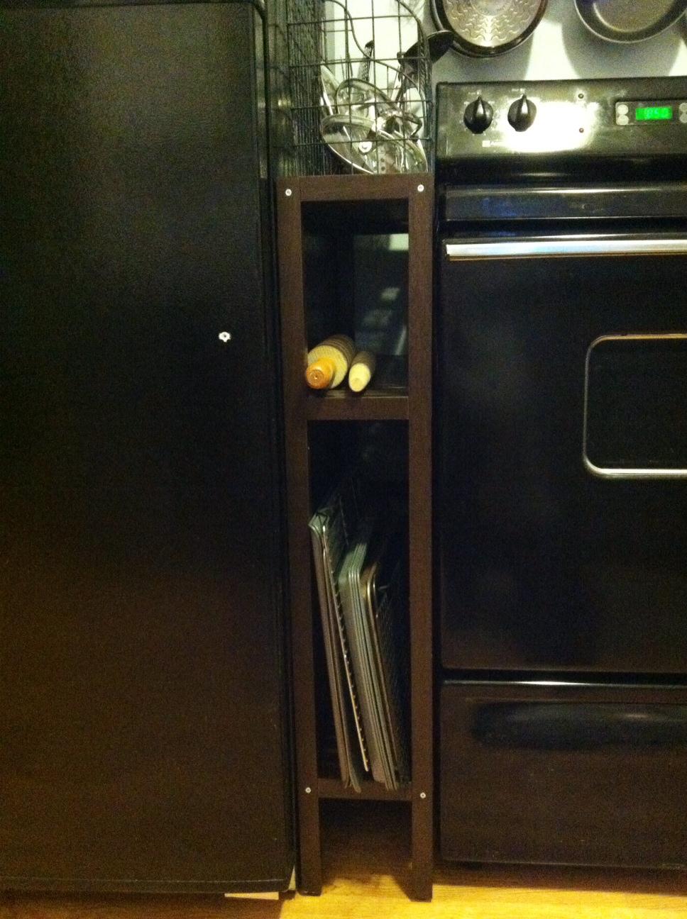 Can you imagine a skinnier shelf?